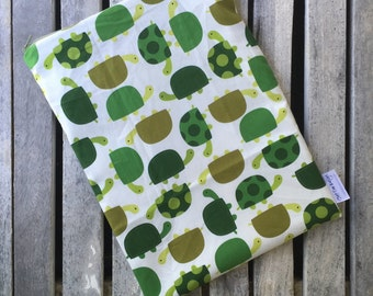 """Travel wet bag 10""""x13""""- Topsy Turtles-optional strap available-"""