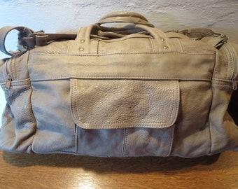 Vintage Leather  Duffle Bag - Leather Carry on Bag Luggage -  Leather Duffel Bag