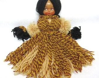 Vintage Yarn Doll Native American Southwestern Indian Folk Toy Doll