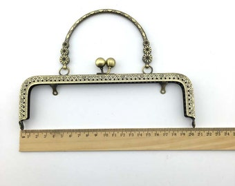 20cm(7.87inch) antique bronze sewing metal purse bag frame A239a