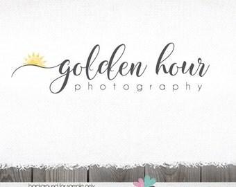 Photography Logo - watercolor logo - Sunrise Logo - Photography logo Sun Design - photographer logo Sunshine Logo Sun logo design
