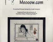 Calico Crossroads: Meooow.com (OOP) - a Kats by Kelly Cross Stitch Kit