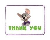 Printable Chuck E Cheese Thank You card