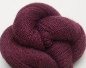 Plum Wine Cashmere Lace Weight Recycled Yarn, CSH00161