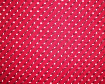 Patriotic Americana Fabric, Star Fabric, By The Yard, 4th of July, Red White, Navy Blue Fabric, Crafting Sewing Fabric, Cotton, Made In USA