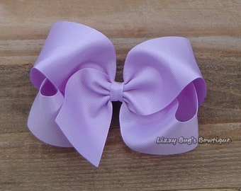 Extra Large Boutique Hair Bow~Large Lavender Hair Bow~Large Boutique Hair Bow~Large Hair Bow~Simple Hair Bow~XL Boutique Hair Bow~Hair Bow