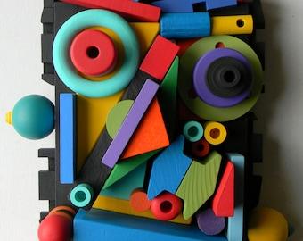 50% OFF - Recycled Assemblage - El Bufon (TheJester)  - Found Object Art by Jen Hardwick