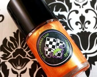 CLEARANCE - Nail Polish Num. NP16 La Mariposa –  Halloween 2015 Vegan Orange Thermochromic Color Shifting Nail Polish/ Nail Lacquer