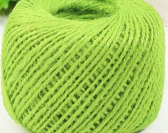 Apple Green Jute Twine-2mm-5 or 10 YDS