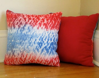 Hand-dyed Patriotic Pillows, Two Sets 2