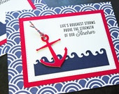 Encouragement Card, Sympathy Card, Anchor Greeting Card, Thinking of You Card, Condolences Card, Support Card