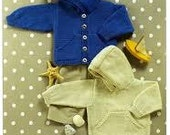 UKHKA 54 Knitting pattern for baby's hooded sweater and button front jacket