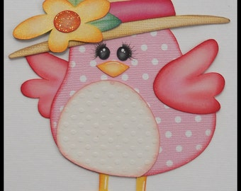 Spring Bird Premade Paper Piecing Embellishments for Scrapbook Pages by Babs