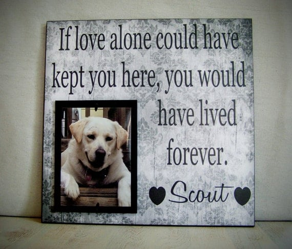 Pet Picture Frame Gift Pet Memorial Gift Dog Memorial Frame