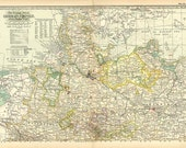 GERMAN EMPIRE Northern part MAP 1897 - Century Atlas  page