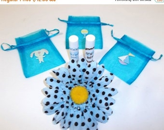 Valentines Sale It's A Boy BABY SHOWER Lip Balm Party Favors - Free Personalization - Set of 20