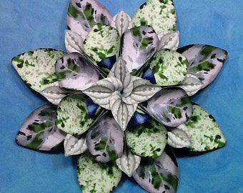 Green and Grey Paper Wallflower Wreath