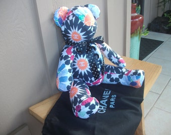 Designer  Fabric Bear