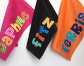 Personalized Youth Golf Towel, Blue Kids Golf Towel for Girls Boys, Blue Youth Golf Towel