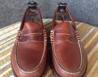 Vintage Brooks Brothers leather penny loafers Vibram sole USA 10.5 never worn