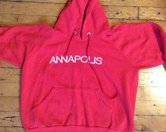 1980's Annapolis Maryland hooded sweatshirt