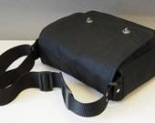 Waxed Cotton Messenger Bag with shoulder strap  for Tablet Camera eReader Laptop