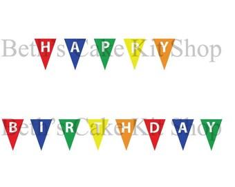 Happy Birthday Bunting Banner Download
