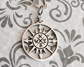 True North - Compass - Find your true north - Graduation Gift - True North - Compass Necklace - Inspirational Jewelry