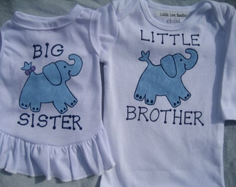 Big Sister or Big Brother Dog Shirt ,With matching Little Brother/ Sister Onesie,Mommy to be with Dog, For Small Breed Dogs ONLY