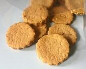 Wheat Free Ginger Snaps Dog Treats, 2 Dozen - organic molasses - cinnamon - ginger - gingerbread - healthy treats