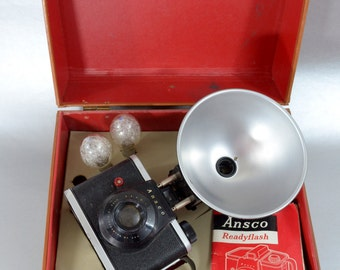 Vintage Ansco Ready Flash Camera kit- Check out all of our cameras