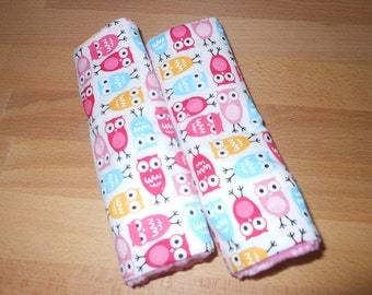 Urban Zoology Mini Owls Infant/Toddler Reversible Car Seat Strap Covers (1 only, as pictured)