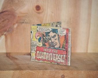 Doctor Strange ® Wallet Dr. Strange billfold handmade upcycled bifold girlfriend boyfriend gift recycled comic book vintage comics hand made