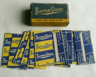 Vintage Burma Shave Razor Blades In Box