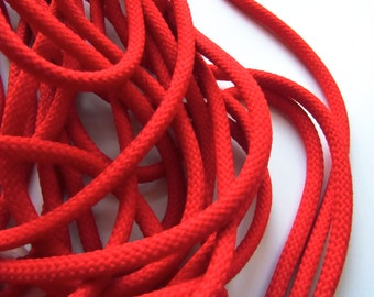 Round Braid, 6 Yards, bright red