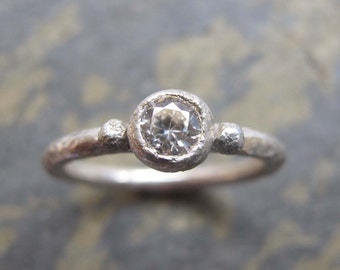 Sterling silver engagement ring- handmade engagement ring