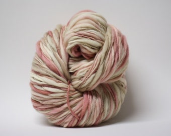 Thick Thin Yarn Hand spun Merino Wool Slub  Hand Dyed tts(tm) Merino Bulky Self Striping xxLRH 1603x Half-pounder