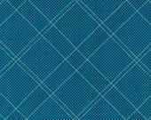 Carkai Grid Diamond in Navy Metallic, Carolyn Friedlander, Robert Kaufman Fabrics, 100% Cotton Fabric, AFRM-15793-9 NAVY