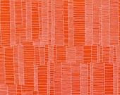 Doe Ladder Lines in Flame, Carolyn Friedlander, Robert Kaufman Fabrics, 100% Cotton Fabric, AFR-15026-101 FLAME