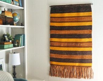 Vintage Handwoven Wall Hanging - Cornelia Snoey