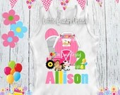 First 1st, 2nd or beyond birthday shirt - Farm yard birthday girl [any age] Farm Birthday tee shirt | Farm | Old McDonald