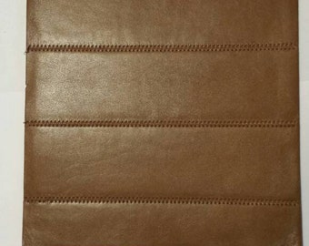 Lambskin/Brown / Leather piece . Leather/Lamb /Leather Piece.Leather craft/ Craft Supplies/ Genuine Leather.