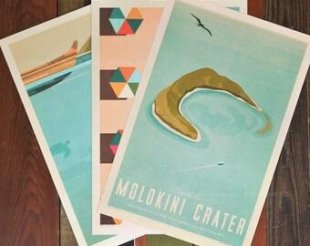 Maui No Ka Oi  - 12 x 18 Retro Hawaii Print Series