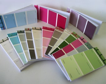 Hand Bound Notebooks Paint Chip Note Pads Traditional Japanese Stab Bound Books Great Teacher Gifts and Stocking Stuffers