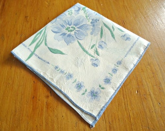 Handkerchief Hanky Hankie Vintage Hankys Hankies Antique Handkerchief Hankerchief Floral Blue