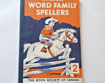 Vintage Word Family Spellers Book School Book 1960s
