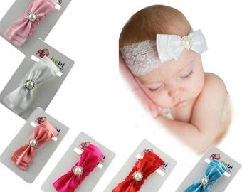 Set of 6 baby headband, baby girl headband, baby gift, newborn headband, infant headband, baby lace headband summer, Baby shower, lace band