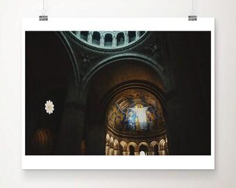 Sacré-Cœur photograph Paris photography cathedral photograph Sacré-Cœur print interior photograph religious photograph cathedral print