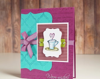 Get Better Soon - Cards For Cancer Patients - All Occasion Cards - Miss You Cards - Coffee And A Friend - Thinking Of You - Friend Card