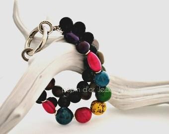 colourful, multistrand bracelet